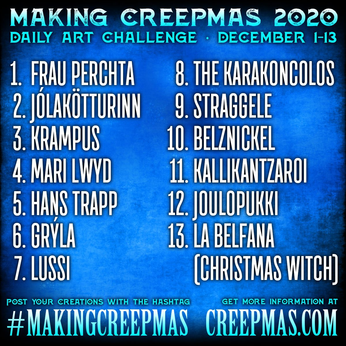 Making Creepmas 2020 Prompt List